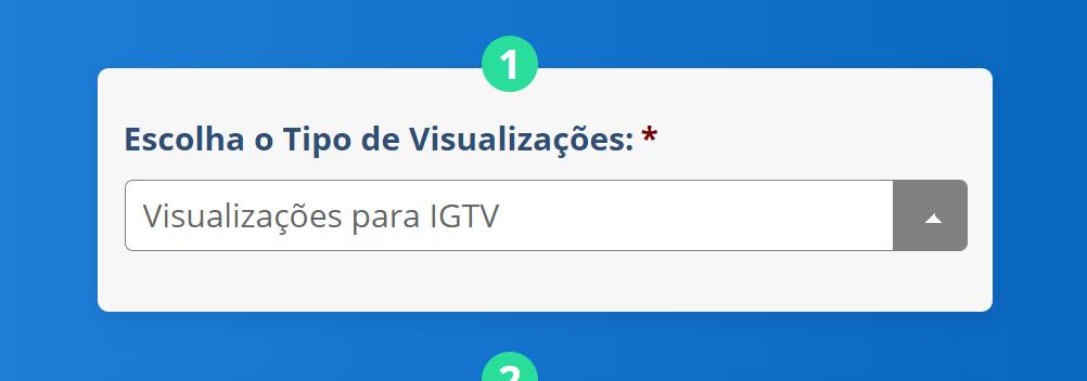 Comprar Visualizações IGTV