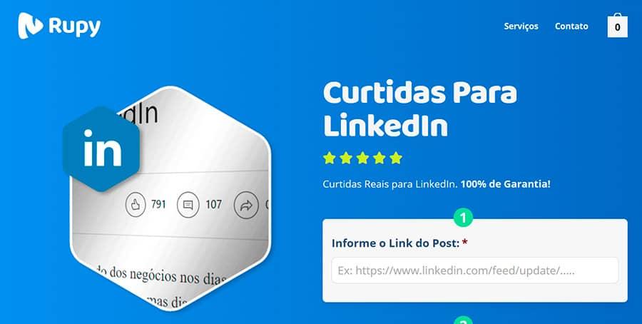 Melhor site para comprar curtidas LinkedIn