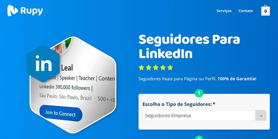 Melhor site para comprar seguidores LinkedIn